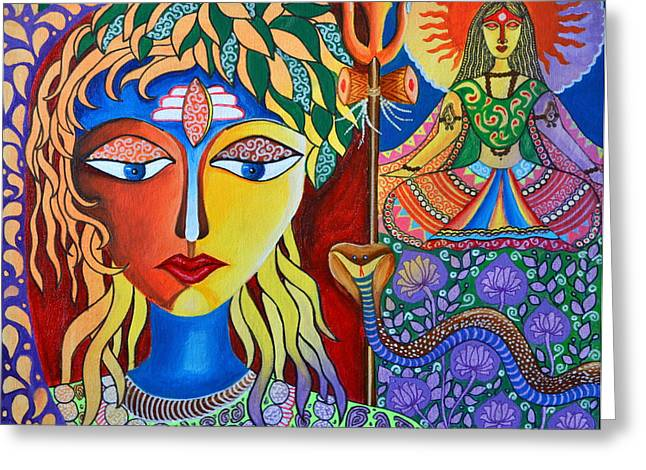 Shiva-sati Greeting Card by Deepti Mittal