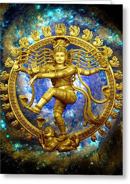 Shiva The Cosmic Dancer Greeting Card