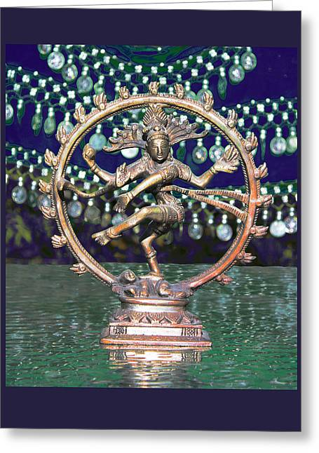 Shiva Upon The Water Greeting Card