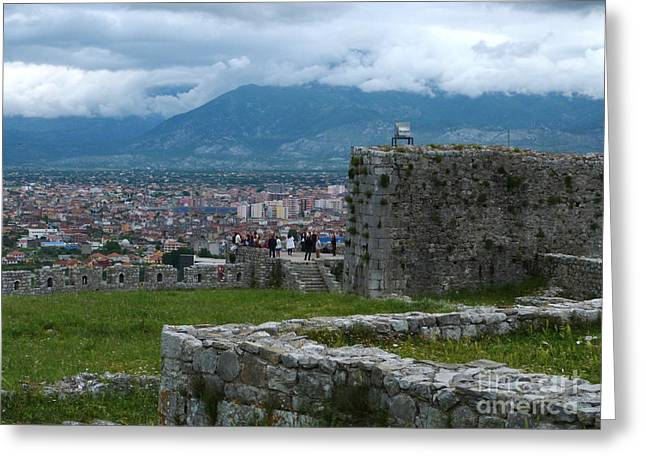 Shkoder From Rozafa Castle - Albania Greeting Card