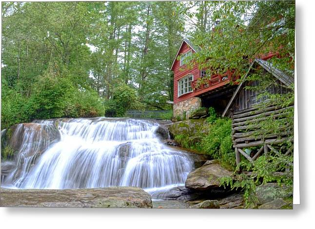 Shoal Creek Falls Greeting Card by Bob Jackson