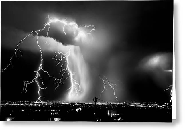 Shock Attack Greeting Card by Roch Hart