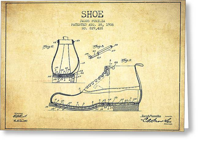 Shoe Patent From 1906 - Vintage Greeting Card by Aged Pixel