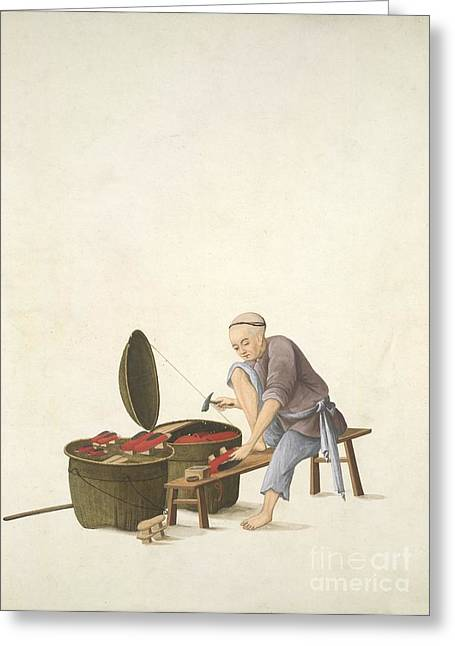 Shoemaker, 19th-century China Greeting Card by British Library