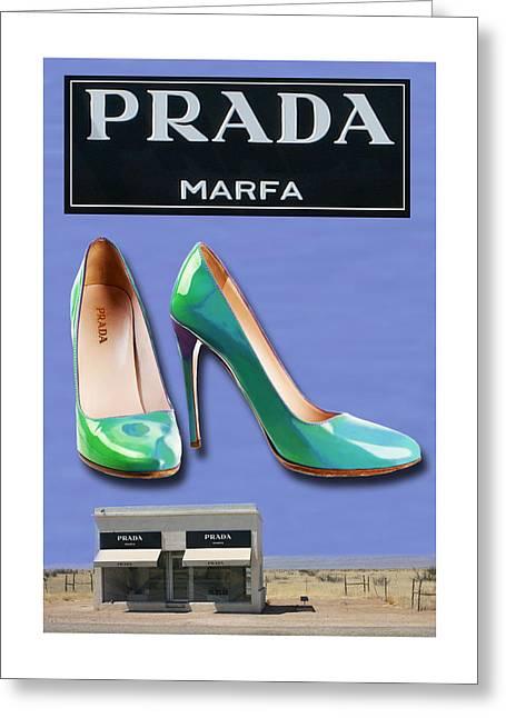 Abstract Prada Marfa Shoe Art Far West Texas Greeting Card
