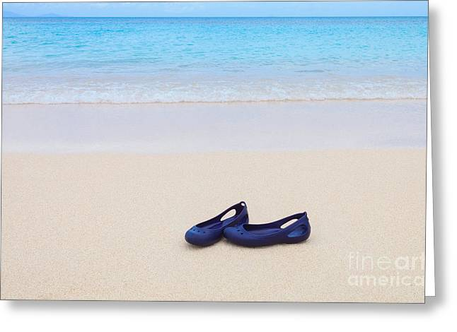 Shoes In Paradise Greeting Card