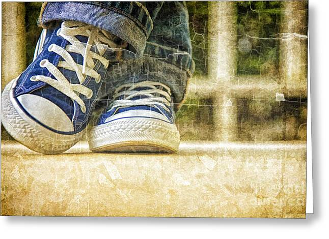 Greeting Card featuring the photograph Shoes by Linda Blair