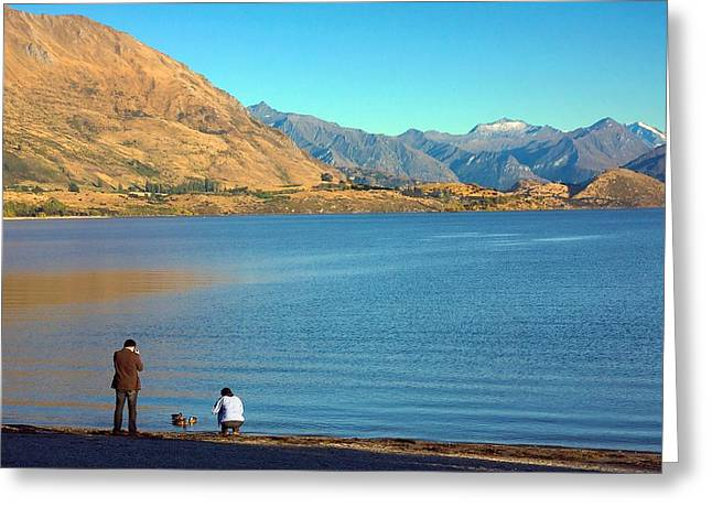 Greeting Card featuring the photograph Shooting Ducks On Lake Wanaka by Stuart Litoff
