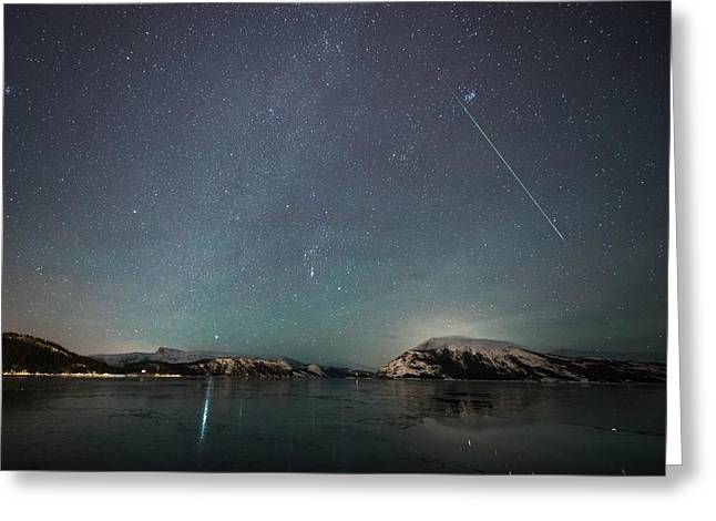 Shooting Star And Milky Way Greeting Card