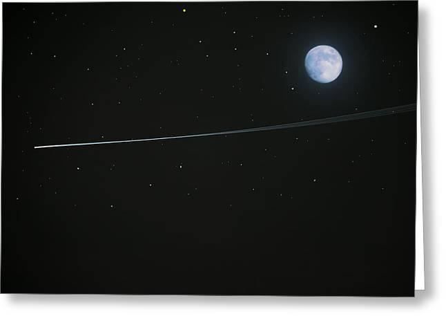 Shooting Star Greeting Card by Pete Trenholm