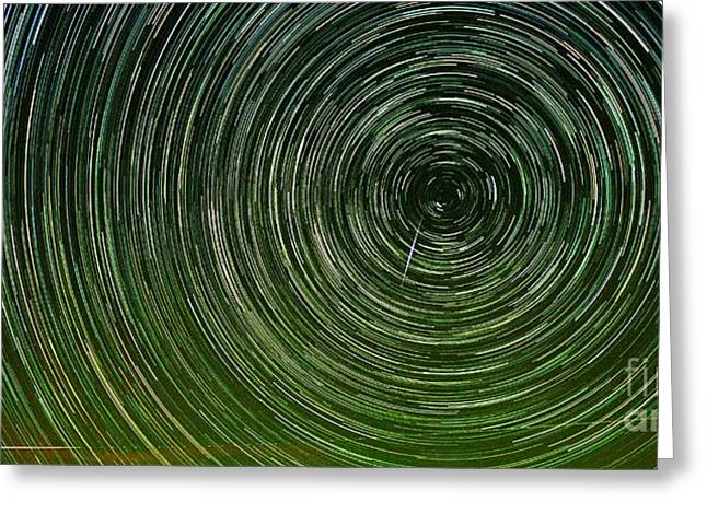 Shooting Star Trails Greeting Card