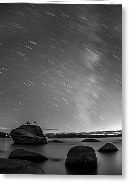 Shooting Stars Greeting Card by Brad Scott