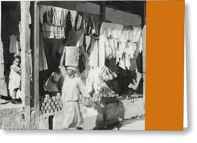 Shop Fronts In Haiti Greeting Card by Cecil Beaton