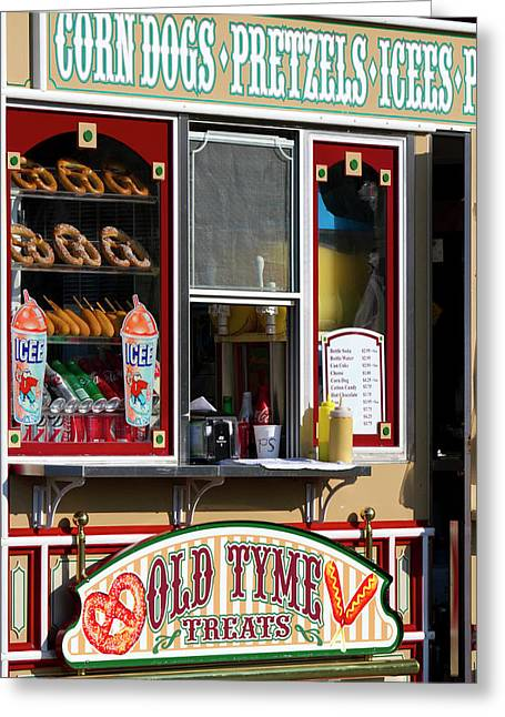 Shop Selling Snacks On Pier 39 In San Greeting Card by David R. Frazier