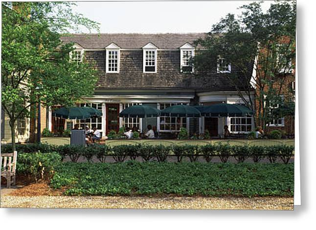Shops At Merchants Square, Duke Greeting Card by Panoramic Images