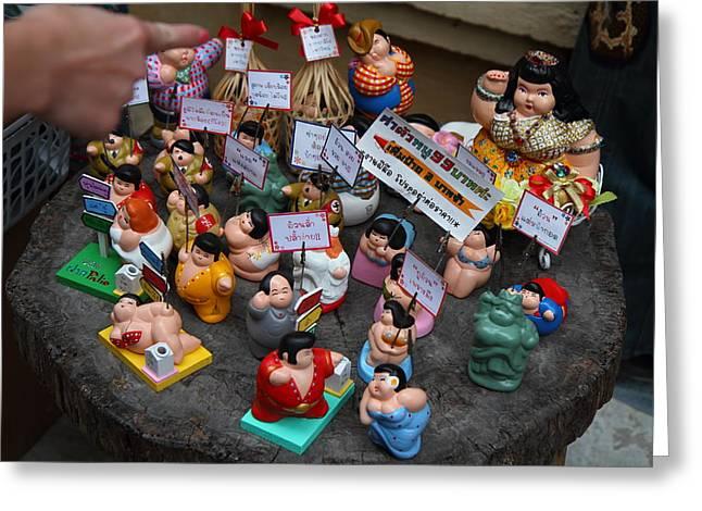 Shops - Piazza Palio - Khaoyai Thailand - 01131 Greeting Card