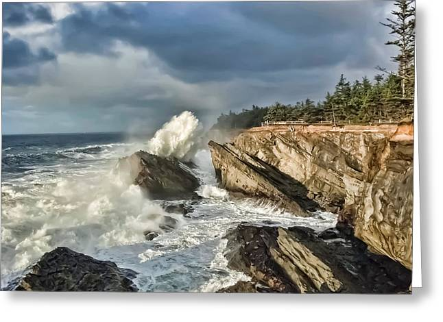 Shore Acres 12 Greeting Card by Kenneth Haley