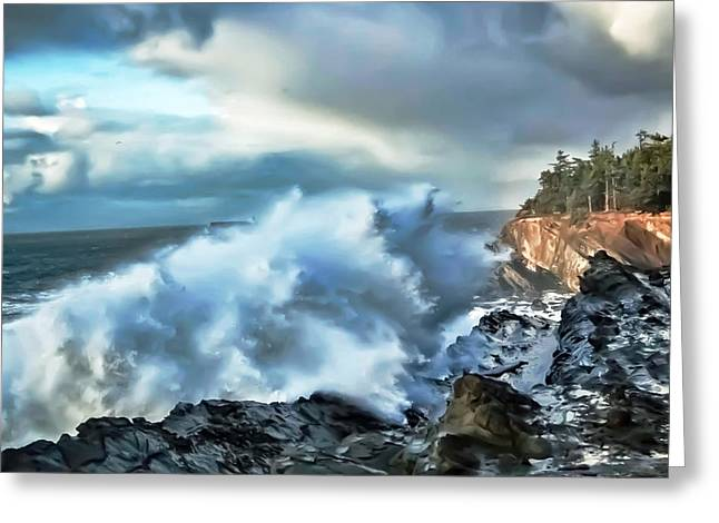 Shore Acres 15 Greeting Card by Kenneth Haley