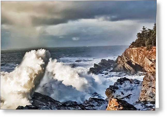 Shore Acres 16 Greeting Card by Kenneth Haley