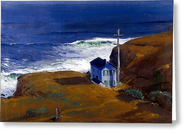 Shore House Greeting Card by Celestial Images