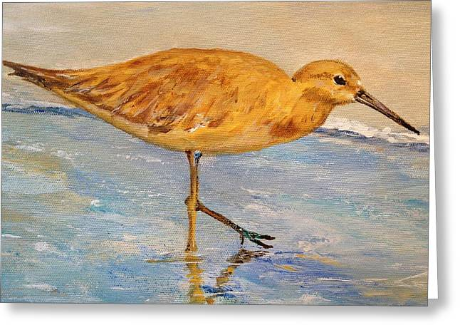 Greeting Card featuring the painting Shore Patrol I by Alan Lakin