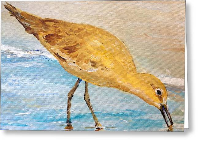 Greeting Card featuring the painting Shore Patrol II by Alan Lakin