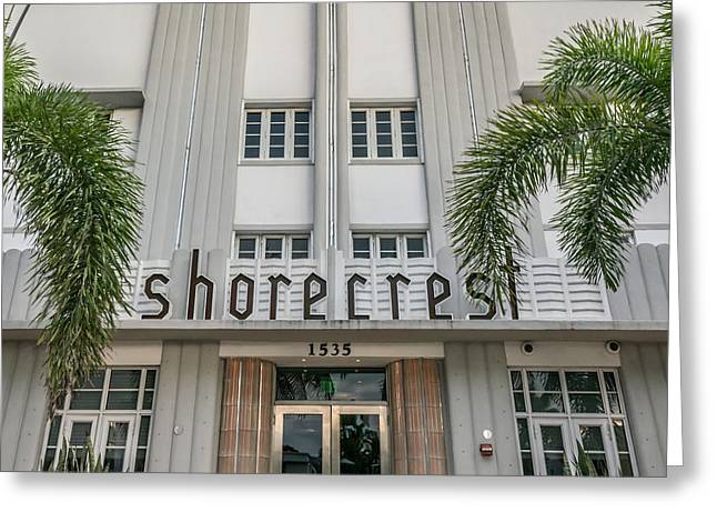 Shorecrest Hotel On South Beach Miami  - Square Crop Greeting Card