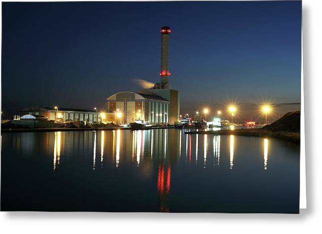 Shoreham Power Station Greeting Card by Martin Bond/science Photo Library