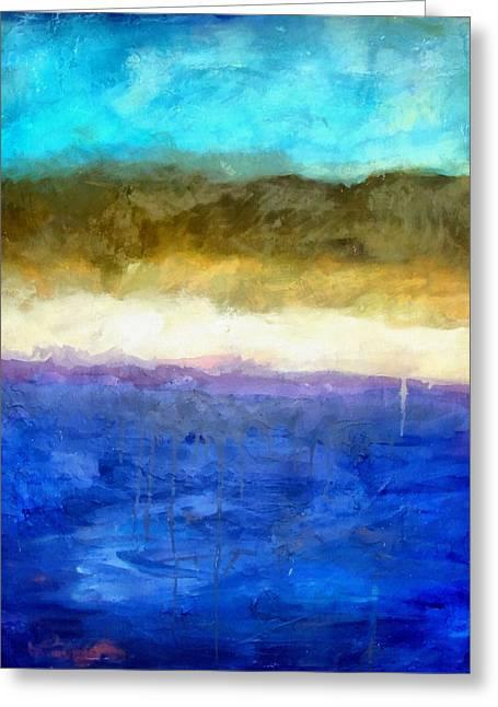 Shoreline Abstract Greeting Card