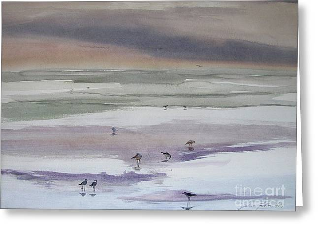 Shoreline Birds II Greeting Card