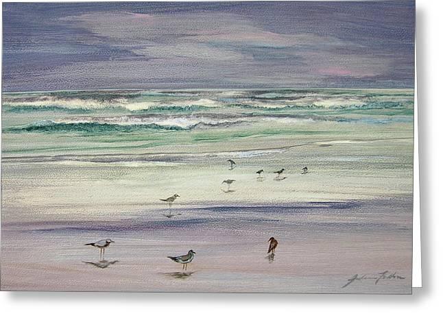 Shoreline Birds IIi Greeting Card