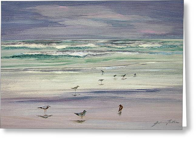 Shoreline Birds IIi Greeting Card