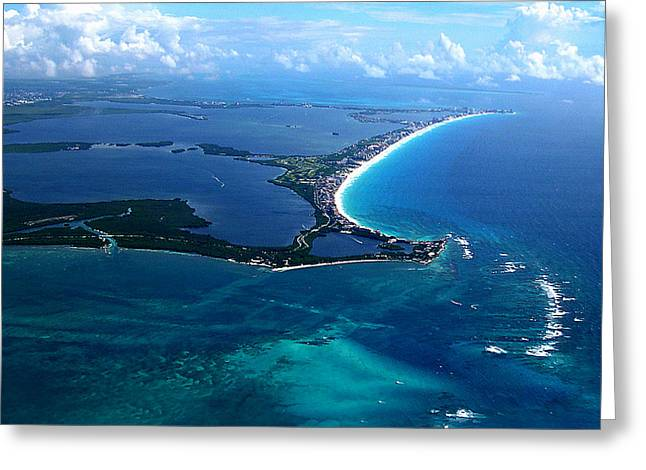 Shoreline-cancun Greeting Card by Addie Hocynec