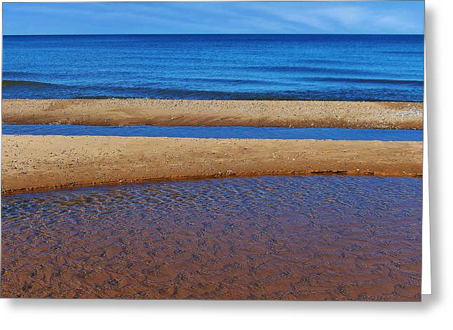 Shoreline Reefs Greeting Card by Kathi Mirto