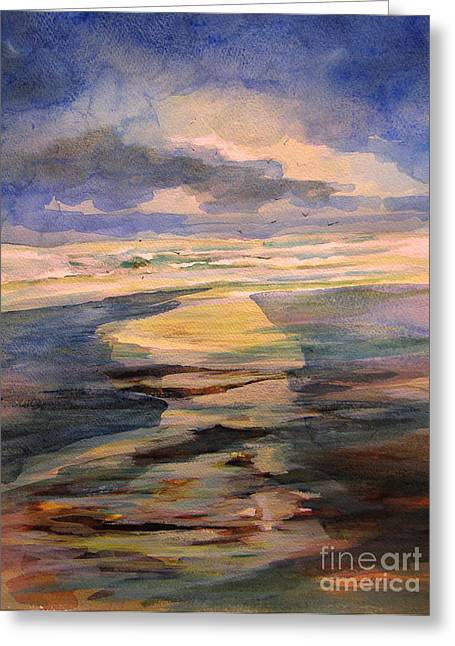 Shoreline Sunrise 11-9-14 Greeting Card