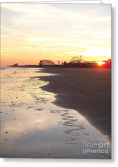 Shoreline Sunset Greeting Card by Eric  Schiabor