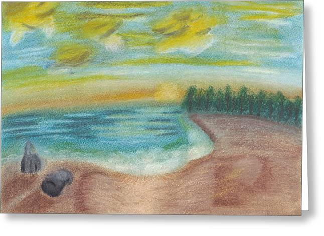Shoreline Greeting Card by Susan Schmitz