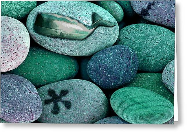 Shoreline Treasures Greeting Card by Lauranns Etab