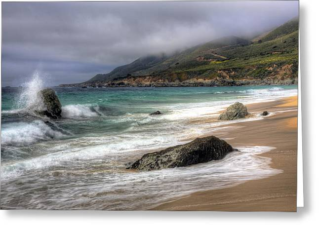 Shores Of Big Sur Greeting Card