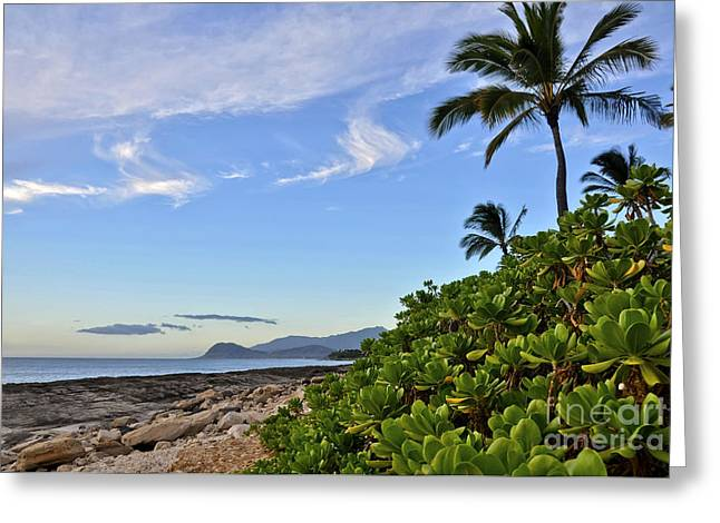 Greeting Card featuring the photograph Shores Of Paradise by Gina Savage