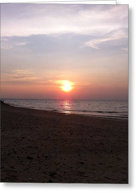 Short Beach  Long Island Greeting Card by Julia Gatti