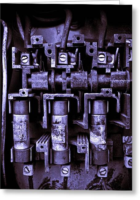 Short Circuit Greeting Card by Justin  Curry