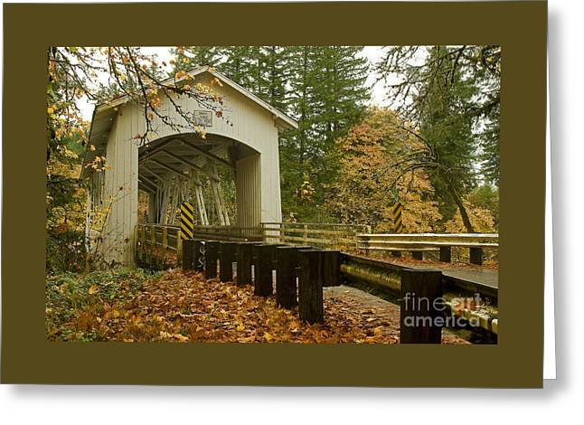 Short Covered Bridge Greeting Card by Nick  Boren