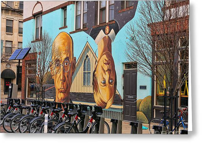Short North Mural 4673 Greeting Card by Jack Schultz