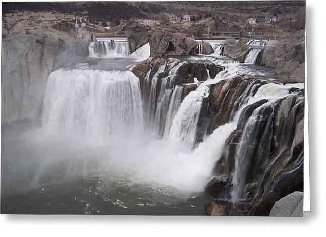 Shoshone Falls Greeting Card by Angela Stout