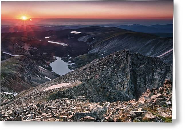 Shoshoni Peak Sunrise Greeting Card