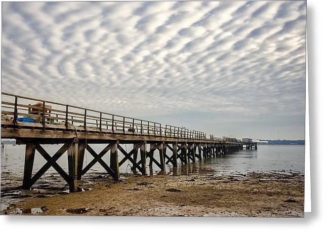 Shotley Coast Greeting Card by Svetlana Sewell