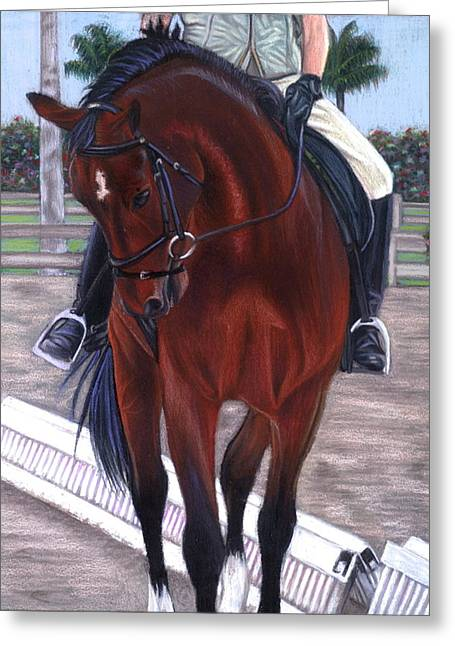 Shoulder-in Greeting Card by Lindsay Zeltzer