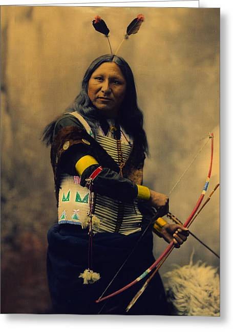 Shout At Oglala Sioux  Greeting Card