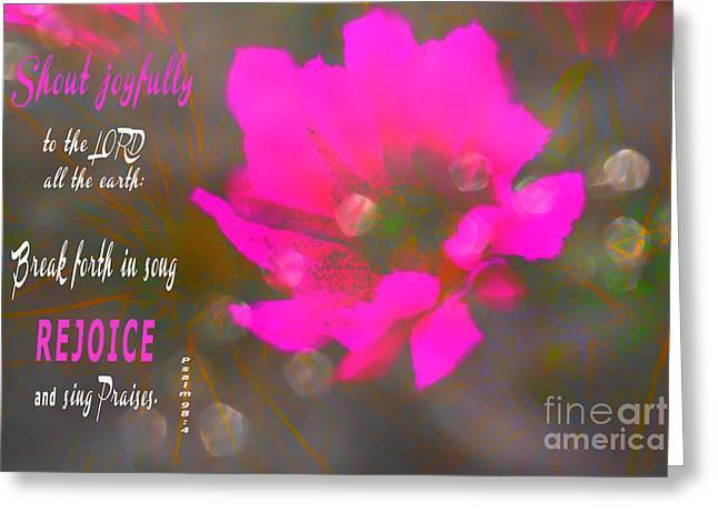 Shout Joyfully Greeting Card